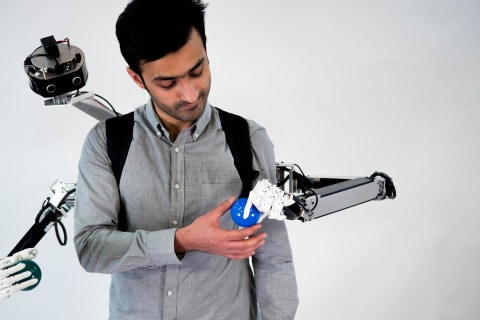 This 'telepresence system' lets two people share one body