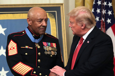 Sgt. Maj. John L. Canley is awarded the Medal of Honor