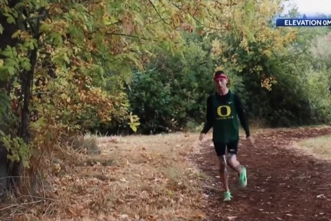 College athlete with cerebral palsy surprised with Nike contract