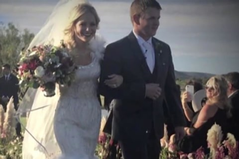 Chopper carrying newlyweds crashes en route to honeymoon