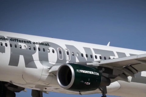 Frontier Airlines flight makes emergency landing after piece of engine cover breaks of