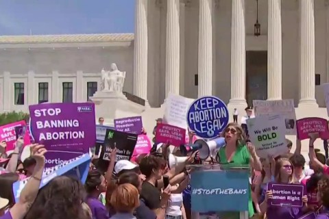 Abortion rights activists hold protests in all 50 states to 'stop the bans'