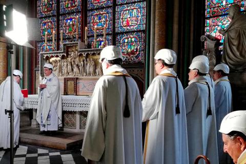 Notre Dame hosts first mass since devastating fire