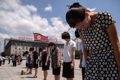 North Koreans mark 25th anniversary of founder's death