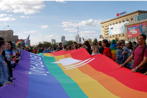 Gay rights march attacked by far-right activists in Ukraine's second city