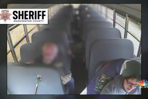 Oregon school bus driver accused of driving under the influence in crash caught on camera