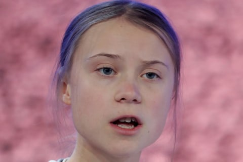 'Act like as if you loved your children above all else,' Greta Thunberg tells Davos