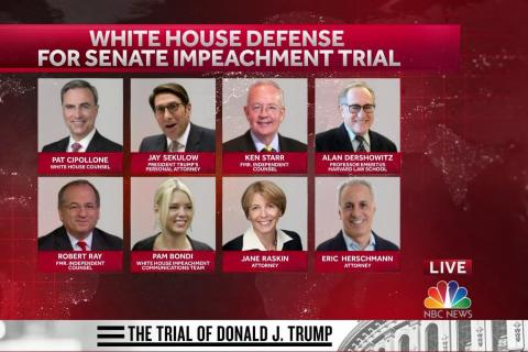 How is Trump's defense team preparing for the Senate impeachment trial?