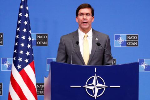 U.S. Def. Sec. Esper announces 'progress' in Taliban peace talks