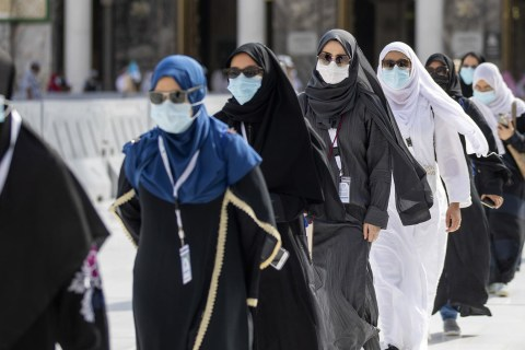 Muslims arrive in Mecca for Islamic pilgrimage amid coronavirus restrictions