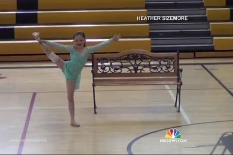 Child Amputee Doesn't Let Disability Deter Her Dance