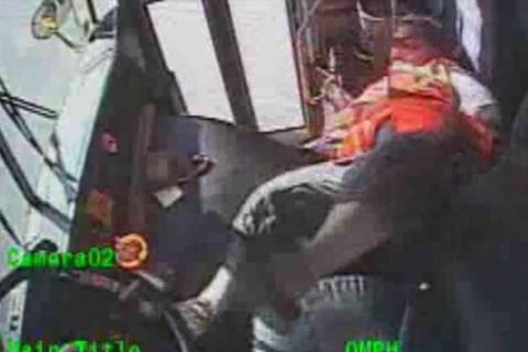 Dash Cam Captures Bus Driver Losing Control