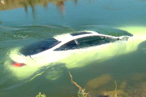 Hero Rescues Two Men From Canal After Car Plunge
