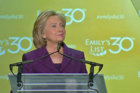 Clinton Asks: Don't You Want to See a Woman President?