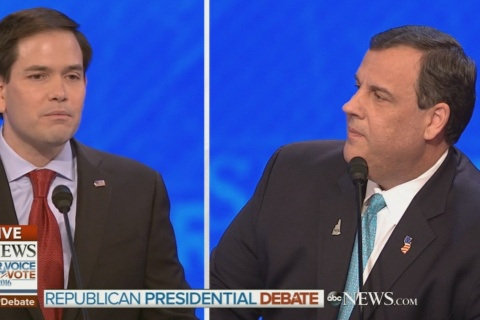 Christie Comes Out Swinging Against Rubio at Debate