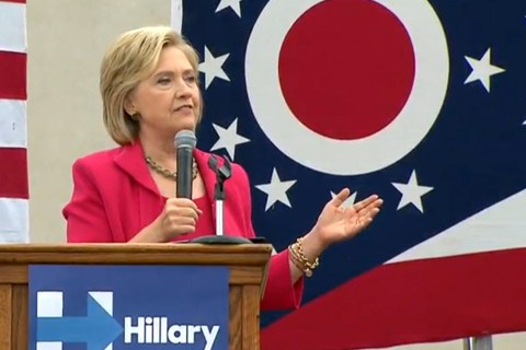 Hillary Clinton Takes Aim at Republicans at Ohio Event