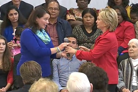 Mother of Sandy Hook Victim Joins Clinton at Town Hall