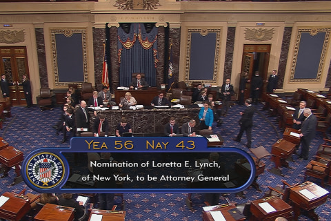 Despite Warning Senate Cheers After Lynch Is Confirmed