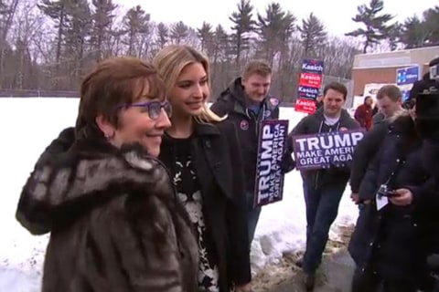 Pregnant Ivanka Trump Poses for Selfies on Primary Day