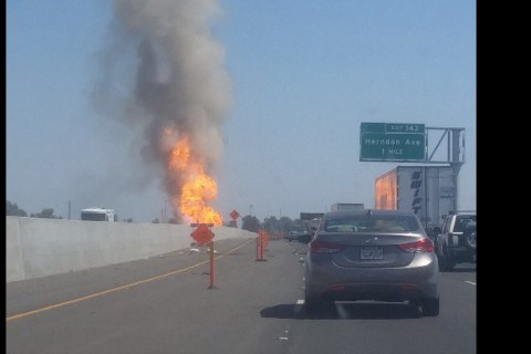 Gas Pipeline Explosion Shuts Down Part of Highway