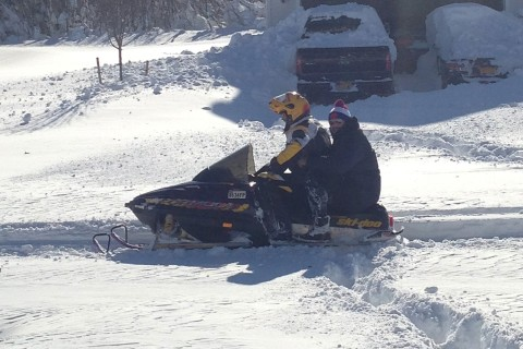 Detroit-Bound Bills Guard Takes Snowmobile to Airport