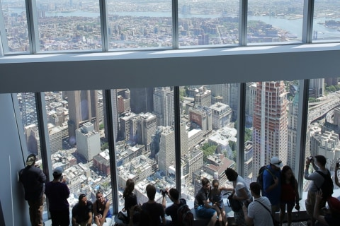 Historic View at One World Trade's New Observatory