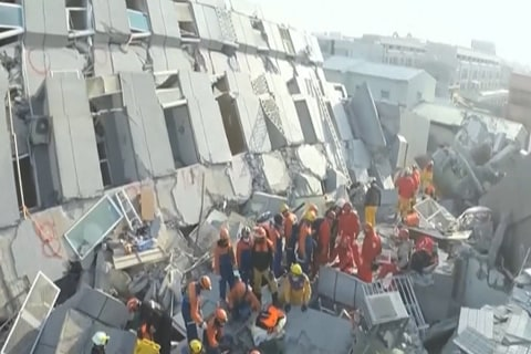 Frantic Rescue Efforts Continue in Taiwan as Death Toll Rises