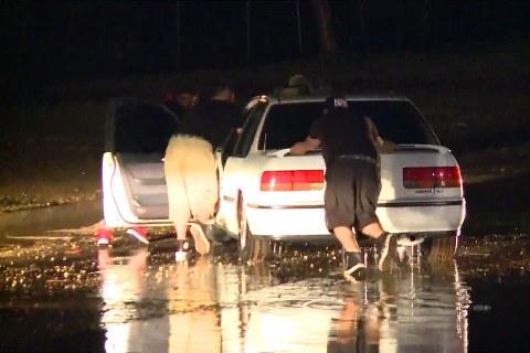 Monsoon Storm Sweeps Through Phoenix Stranding Cars