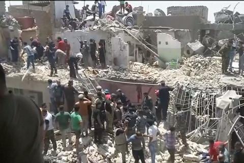 Warplane Accidentally Drops Bomb on Civilians in Baghdad