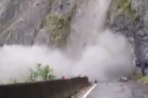 Caught on Camera: Heavy Rain Triggers a Large Landslide in China