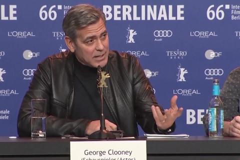 George Clooney to Discuss Migrants Crisis with Angela Merkel