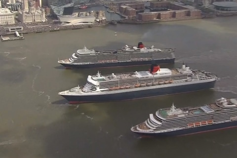 Cunard Ships Mark Anniversary of Cruise Line's First Transatlantic Trip