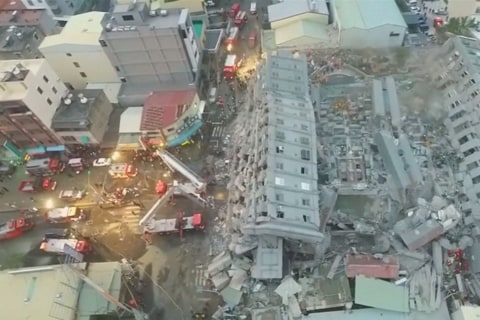 Drone Video Captures Extent of Taiwan Quake Destruction