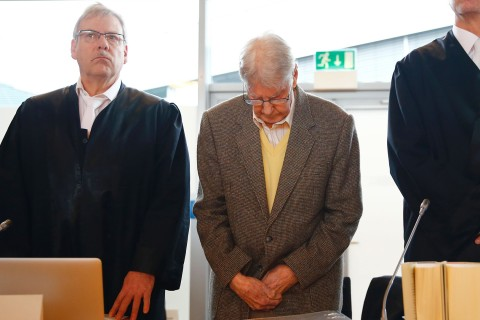 Former Auschwitz Guard, Reinhold Hanning, Appears in Court