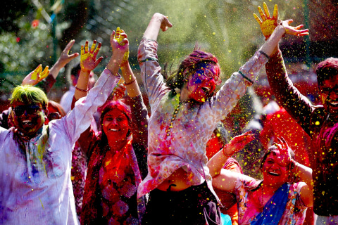 Riot of Color as India Celebrates Holi Festival