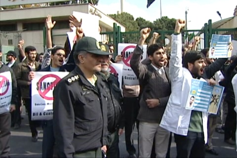 'Death to America': Iran Hardliners Protest Nuke Talks