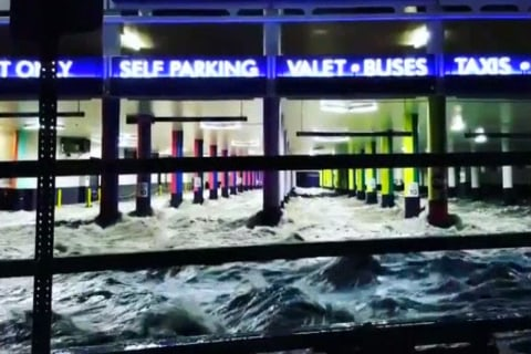Cellphone Video Captures Las Vegas Flooded