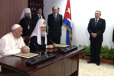 Pope Francis and Patriarch Kirill Hold Landmark Meeting