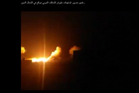 Video Purports to Show U.S. Strikes on ISIS Targets in Syria