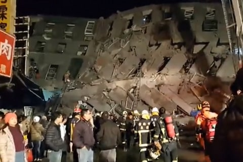 Powerful 6.4 Earthquake Strikes City in Southern Taiwan