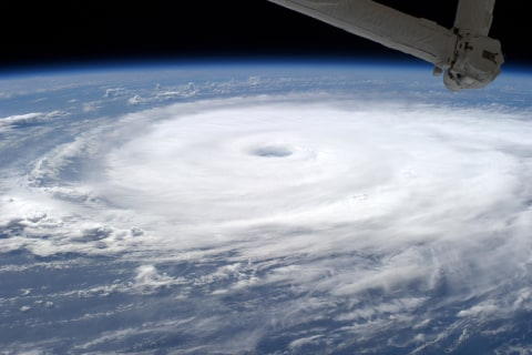 Hurricane Edouard Photographed From International Space Station