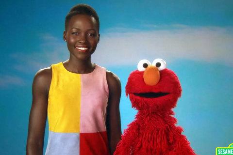 Lupita Nyong'o Tells Elmo She Loves Her Skin
