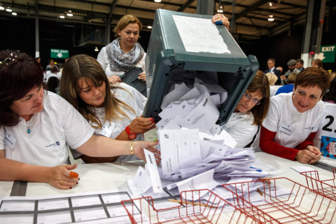 Record Turnout for Scotland Independence Referendum Vote