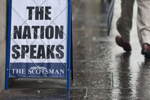 How Papers Covered Results of Scotland Independence Referendum