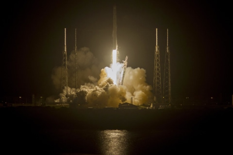 SpaceX Launches Dragon (With Mice Inside) to Space Station