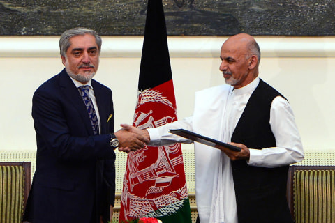 Afghanistan's Ghani and Abdullah Ink Power-Sharing Deal