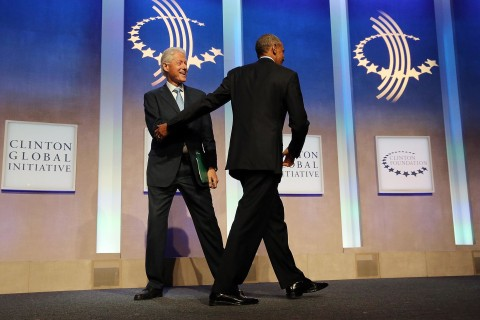 Obama, Clintons Share Some Laughs at Global Initiative