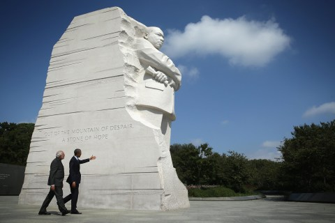 Obama Visits MLK Memorial With New Indian Prime Minister