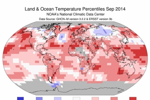Hottest September Ever Keeps Earth on Pace for Record Year