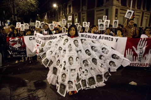 Protests in Mexico Over Missing Students are Biggest in Years